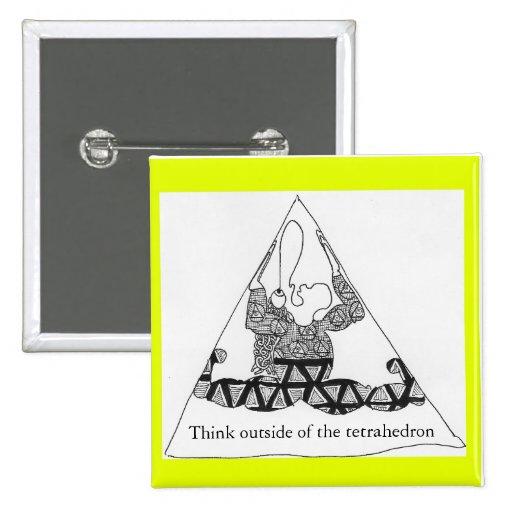 el tretra, piensa fuera en del tetraedro pins