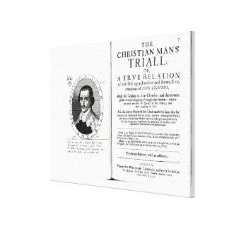 El Trial del hombre cristiano de Juan Lilburne Impresión En Lona Estirada