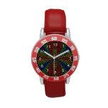 El triángulo colorido teja el modelo relojes de pulsera
