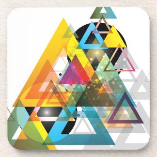 El triángulo de la ropa de Wellcoda guerrea tri Posavasos