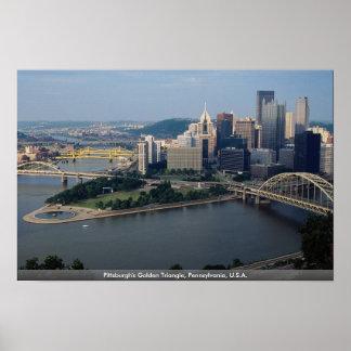 El triángulo de oro de Pittsburgh, Pennsylvania, Póster