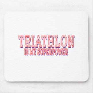 El Triathlon es mi superpotencia Tapetes De Raton
