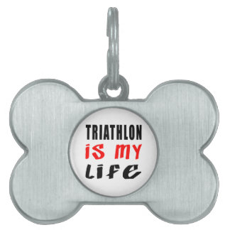 El Triathlon es mi vida Placa Mascota