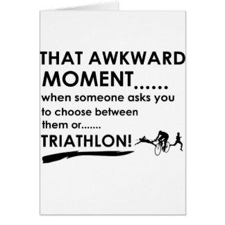 El Triathlon se divierte diseños Tarjeta De Felicitación