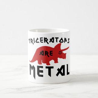 El Triceratops es metal Taza Básica Blanca