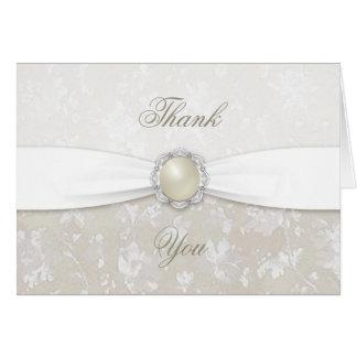 El trigésimo aniversario de boda del damasco le tarjeta pequeña
