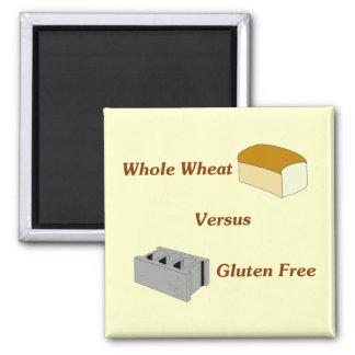 El trigo integral contra el gluten libera iman para frigorífico