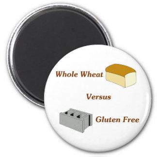 El trigo integral contra el gluten libera imán de frigorífico