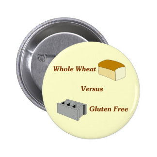 El trigo integral contra el gluten libera pin redondo de 2 pulgadas