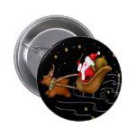 El trineo de Santa - botón Pin