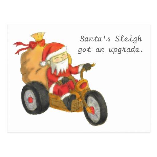El trineo de Santa divertido consiguió una mejora  Tarjetas Postales