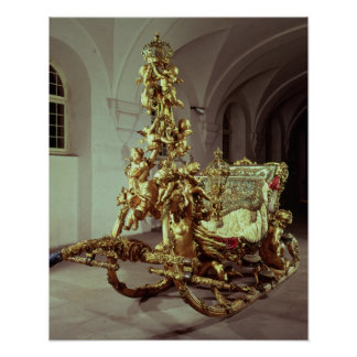 El trineo del estado de Luis II construyó 1872-80 Posters
