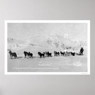 El trineo del perro defiende Alaska 1910 Impresiones