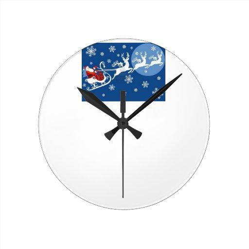 El trineo y el reno de Santa Reloj
