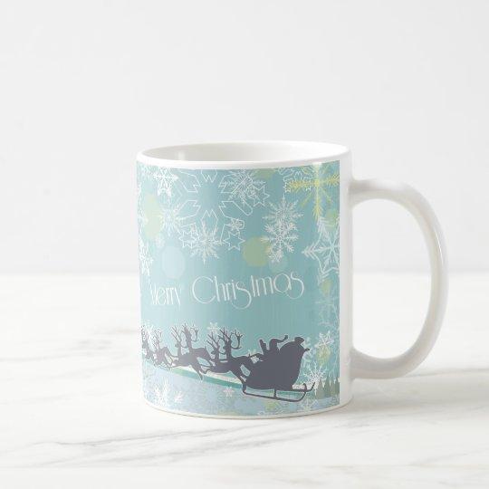El trineo y los copos de nieve de Santa Taza De Café