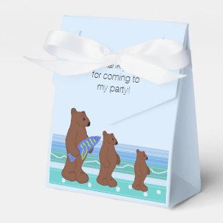El trío de osos le agradece caja para regalo de boda