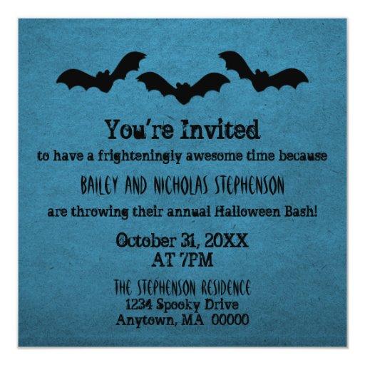El trío del fiesta de Halloween de los palos Invitación Personalizada