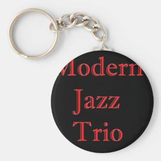 El trío del jazz moderno llavero redondo tipo pin