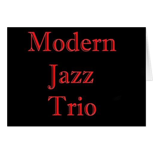 El trío del jazz moderno tarjeta de felicitación