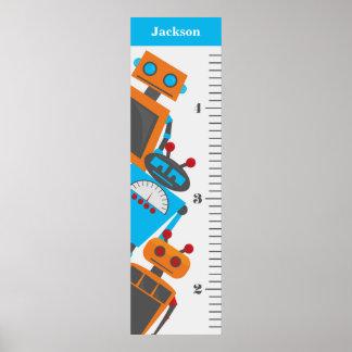 El trío del robot embroma la carta de crecimiento póster