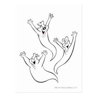 El trío fantasmal 5 postal
