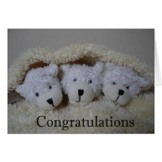 el trío lleva enhorabuena tarjeta de felicitación