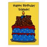 el trío refiere la tarjeta de la torta de cumpleañ