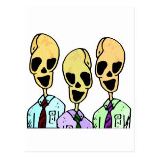 El trío postales