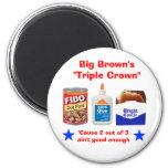 """El """"Triple Crown """" grande de Brown Imanes De Nevera"""