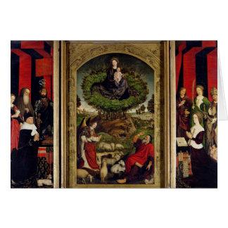 El tríptico de Moses y de la zarza ardiente Tarjetas