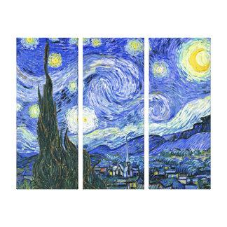 El tríptico del ~ de Vincent van Gogh del ~ de la  Impresiones En Lienzo Estiradas