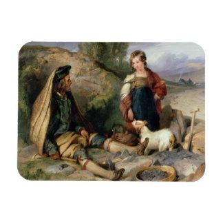 El triturador de piedra y su hija, 1830 imán de vinilo