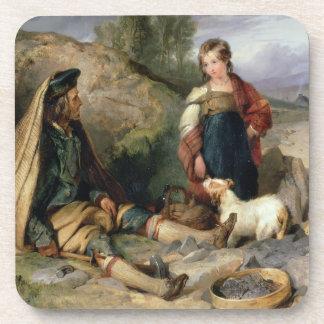 El triturador de piedra y su hija 1830 posavaso