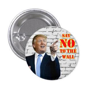 El triunfo de Anti-Donald dice NO al botón de la Pin Redondo De 1 Pulgada