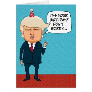 El triunfo divertido no deportará a personas tarjeta de felicitación