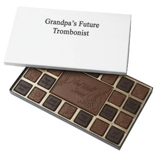 El trombón futuro del abuelo caja de bombones variados con 45 piezas
