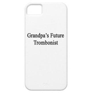 El trombón futuro del abuelo iPhone 5 fundas