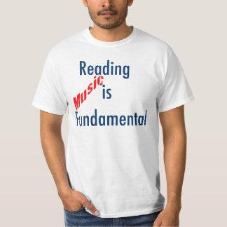 """El Trombone """"música de la lectura es"""" camiseta"""
