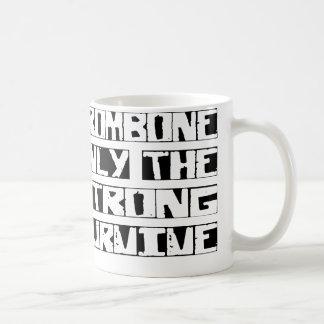 El Trombone sobrevive Taza Básica Blanca