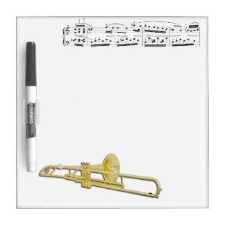 El Trombone (válvula) seca al tablero del borrado Tableros Blancos