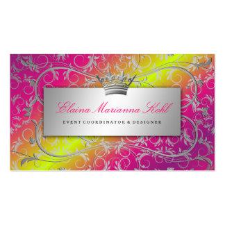El tronco color de rosa divino de plata 311 se des tarjeta de visita