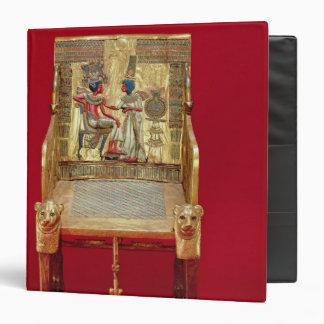 """El trono, de la tumba de Tutankhamun Carpeta 1 1/2"""""""