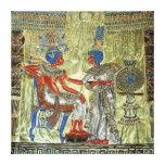 El trono de Tutankhamon Lona Envuelta Para Galerías