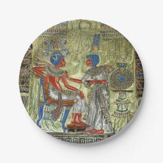 El trono de Tutankhamon Plato De Papel De 7 Pulgadas