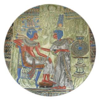 El trono de Tutankhamon Platos De Comidas