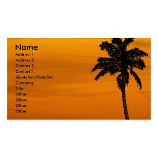 El | tropical tarjetas de visita
