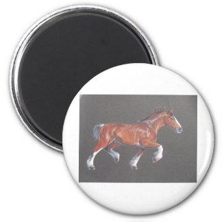 El trotar del caballo de proyecto imán redondo 5 cm
