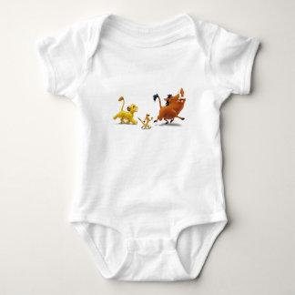 El trotar del canto del pumbaa del timon del body para bebé