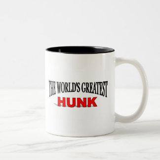 El trozo más grande del mundo taza de café de dos colores