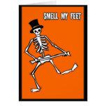 El truco o la invitación, huele mis pies tarjetas